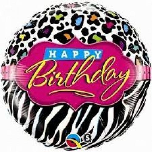 Parti Şöleni Zebra Happy Birthday Folyo Balon