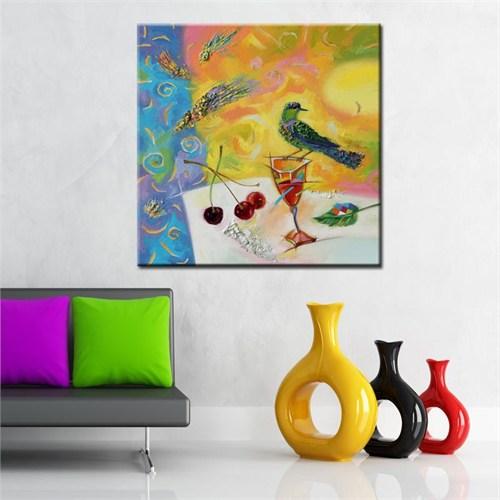 Canvastablom Kr53 Kuş Yağlıboya Kanvas Tablo