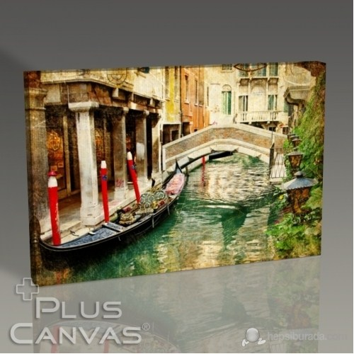 Pluscanvas - Venezia - Vintage Card Series Iı Tablo