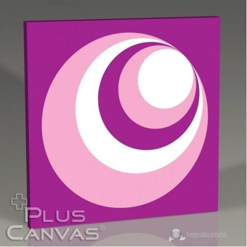 Pluscanvas - Circle Over Circle Puce Tablo