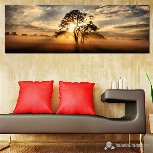 Tabloshop - Lonely Tree Canvas Tablo - 90X30cm