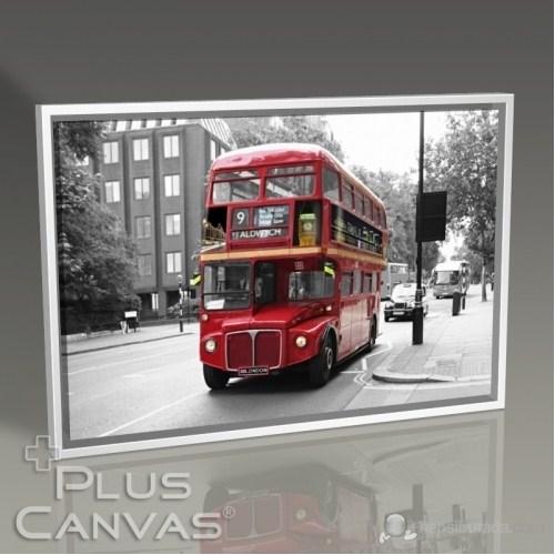 Pluscanvas - London - Red Bus Tablo