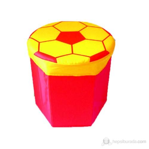 Çocuk Puf Sarı-Kırmızı Modeli