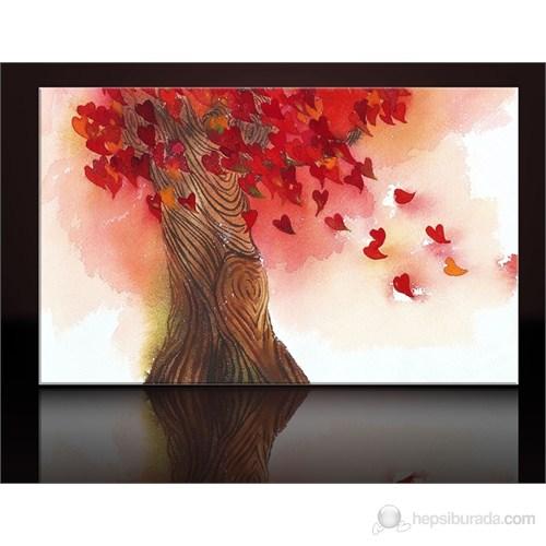 Kalp ve Ağaç Kanvas Tablo