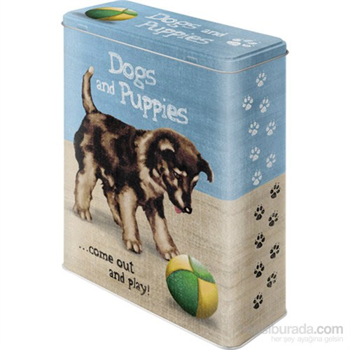 Dogs And Puppies Teneke Saklama Kutusu (Xl)