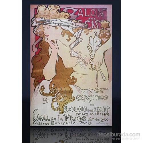 Mucha Salon Des Cent Kanvas Tablo