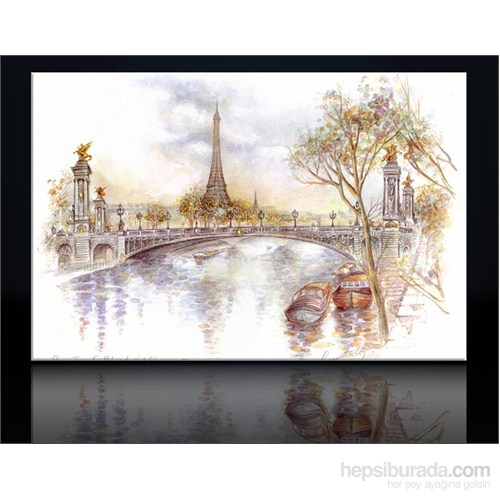 Ayfel Çizim Kanvas Tablo
