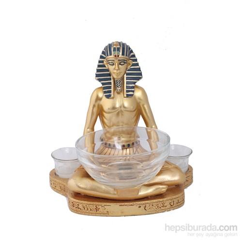 Antik Mısır Firavun Figürlü Biblo