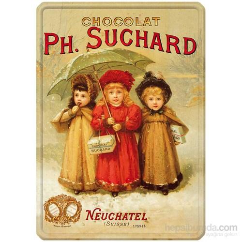 Metal Poster - Chocolat Suchard 3 Enfants Plaque 30X40cm