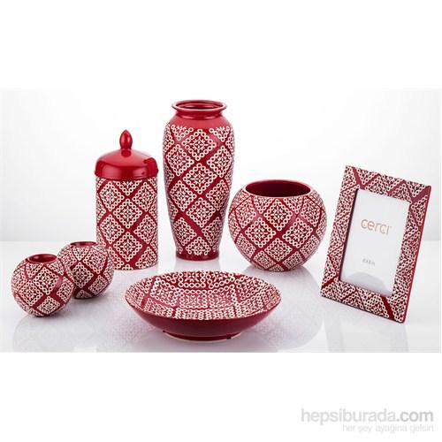 Konstar Salon Dekoratif Obje Takımı Kırmızı