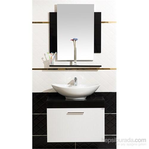 Cihan 75 Cm Banyo Dolabı Siyah