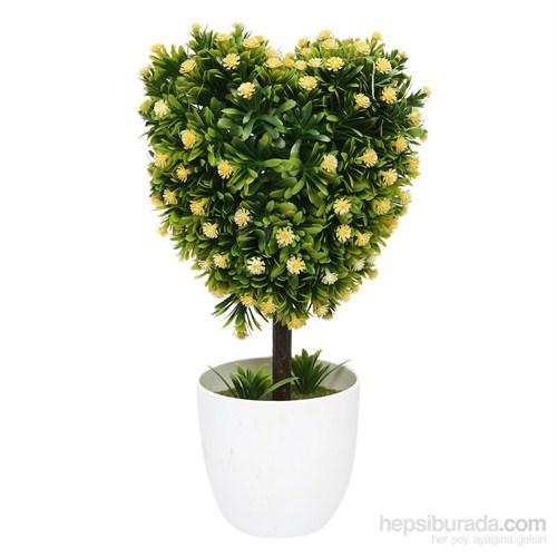 Kalp Yapay Sarı Çiçek