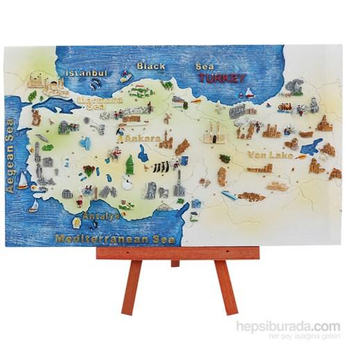 Ayaklı Türkiye Haritası Maketi