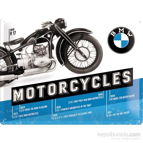 BMW - Timeline Metal Kabartmalı Duvar Panosu (30 x 40 cm)