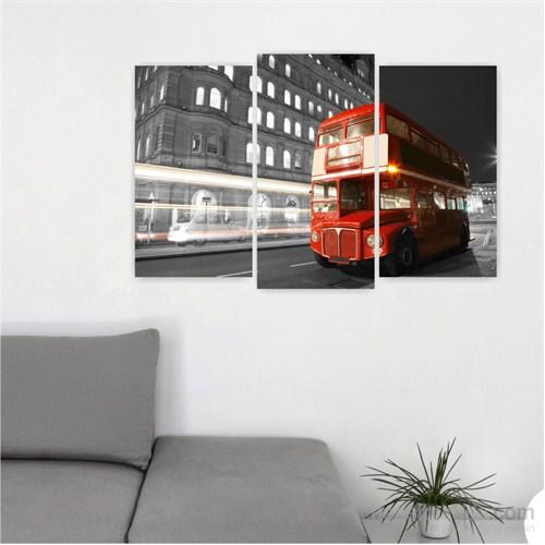 Dekoriza Siyah & Beyaz Londra 3 Parçalı Kanvas Tablo 80X50cm