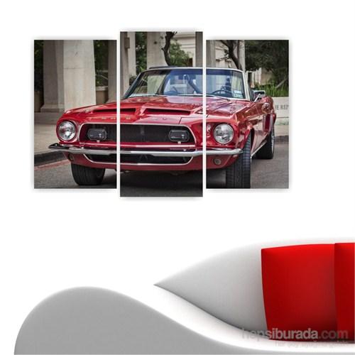 Dekoriza Ford Shelby Klasik Araba 3 Parçalı Kanvas Tablo 80X50cm
