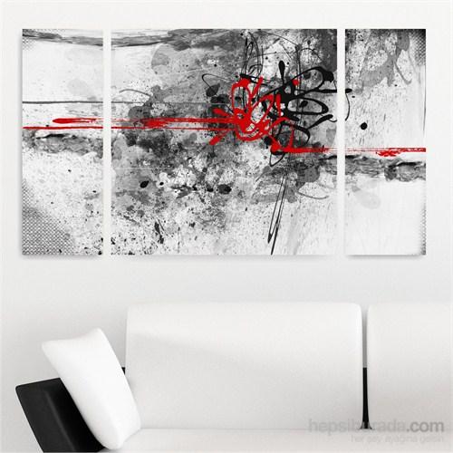 Dekoriza Soyut 3 Parçalı Kanvas Tablo 125X70cm