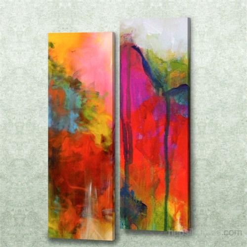 Dekorjinal 2 Li Dikdörtgen Kanvas Tablo Seti Sel050