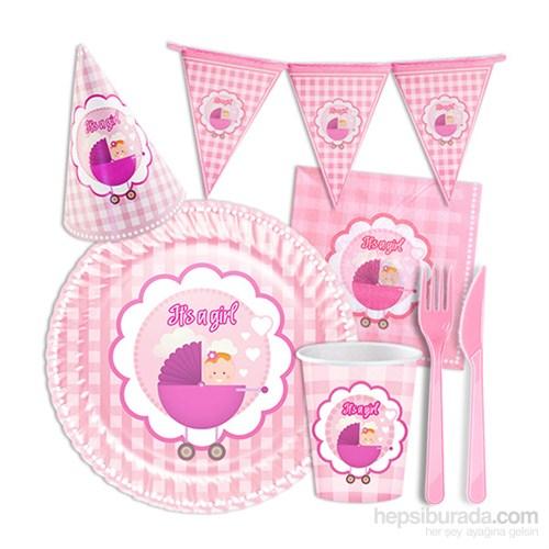 KullanAtMarket Its a Girl Parti Seti 93 Adet
