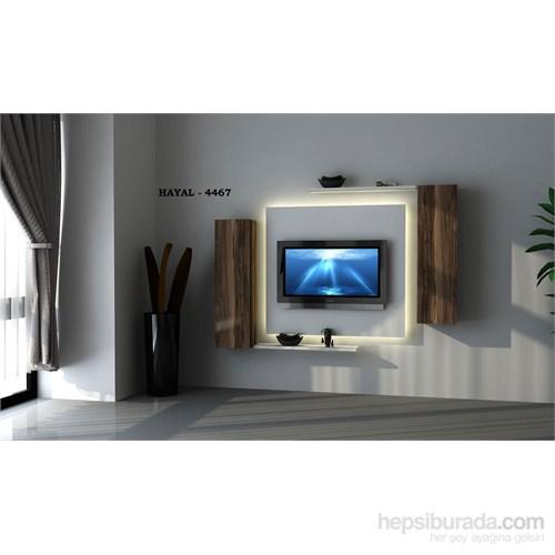 Hayal 4467 Tv Ünitesi Leon Ceviz/Parlak Beyaz