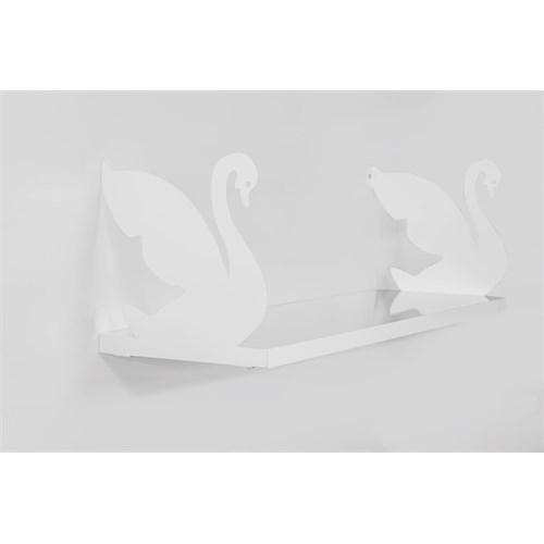 Decormet Kuğu Raf ve Kitaplık Seti 20X60 Beyaz-P.Beyaz