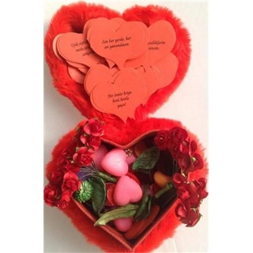 Buffer Romantik Peluş Aşk Kutusu