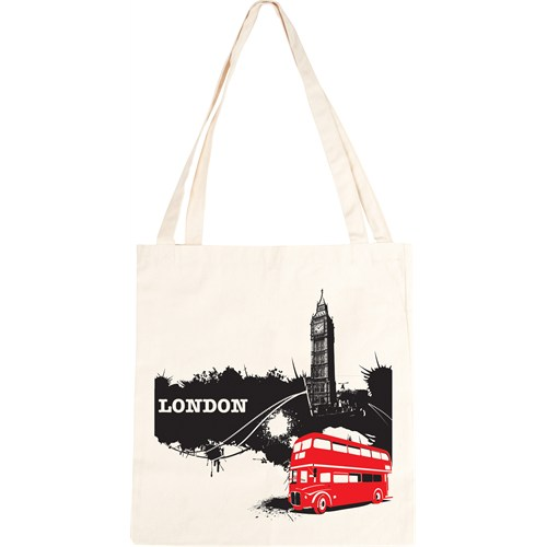 Urbangiftlondon Bıg Ben Bus Cotton Tote Bag 40*40Cm