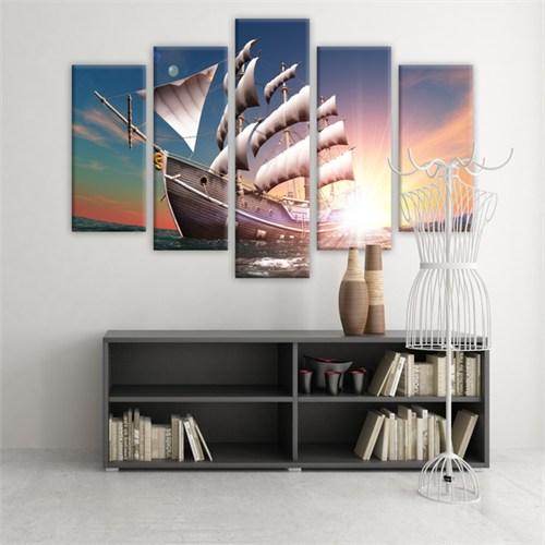 Dekoratif 5 Parçalı Kanvas Tablo-5K-Hb061015-44