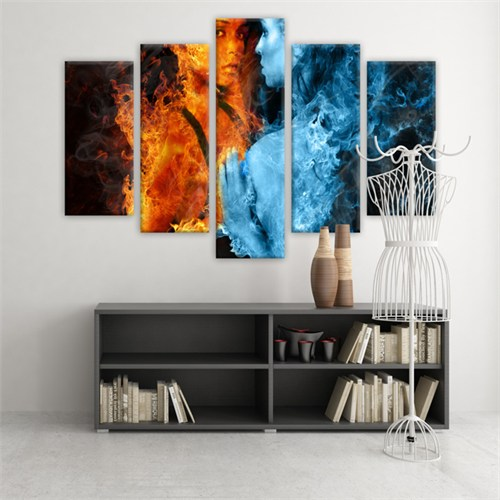 Dekoratif 5 Parçalı Kanvas Tablo-5K-Hb061015-155
