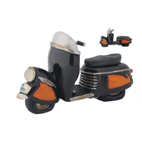 Siyah Motorsiklet Figürlü Kumbara