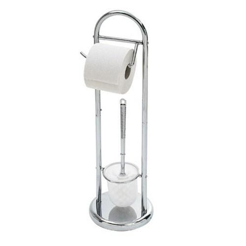 Top Star Krom Tuvalet Fırçası ve Tuvalet Kağıtlığı
