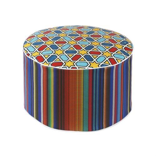 Dekorjinal Moroccan Stil Padişah Yastığı - Köşe Puf Mor56
