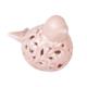 2'Li Porselen Dekoratif Pembe Kuş