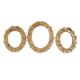 Gold Dekor Kelebek Altın Varaklı Ayna 3'lü Set Altın Renk
