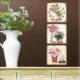 M3Decorium Mdf Vazoda Çiçekler Tablo Duvar Saati