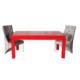 3A Mobilya Moderno Red Table + 2 Sandalye