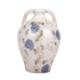 Love Letter Mavi&Beyaz Çiçekli Toprak Vazo