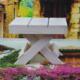 Cosiness Ahşap Dekoratif Mini Biblo Masa - Beyaz