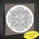 Duvar Tasarım 1003 Led Işıklı Mandala Boyanabilir Kanvas Tablo (Kalem Hediyeli) - 35x35 cm