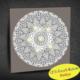 Duvar Tasarım 1024 Led Işıklı Mandala Boyanabilir Kanvas Tablo (Kalem Hediyeli) - 35x35 cm
