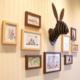 Bliss Tavşan Kafası Duvar Süsü - Ceviz