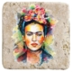 XukX Dizayn Frida Kahlo Bardak Altlığı