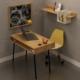 FLY Metal Ayaklı (Boru Profil) Kalemlikli Çalışma Masası+Duvar Rafı - FLY171006