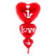 Elitparti I Love You Folyo Balon