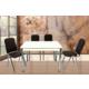 Gül Mutfak Masa Sandalye Takımı 4 Adet Karizma Sandalyeli Mutfak Masası Kahve