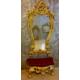 Dresuarstore Filiz Puflu Boy Aynası Altın Varak Lake