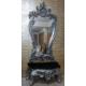 Dresuarstore Filiz Puflu Boy Aynası Gümüş Varak Eskitme