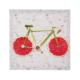 Euro Flora Meyveli Bisiklet Dekoratif Tablo 28X28 Cm