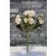 Yapay Çiçek Deposu Yapay Çiçek Ortancalı Şakayık Gül Demeti