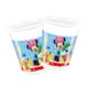 Kullanatmarket Mickey Yılbaşı Plastik Bardak 200Cc